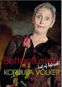 Plakat Kordula Völker, Bettgeflüster