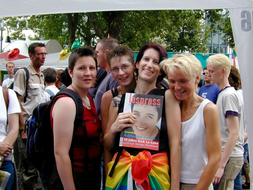 CSD 2002: Foto: Ulrike Anhamm, lespress-Forumsfrauen