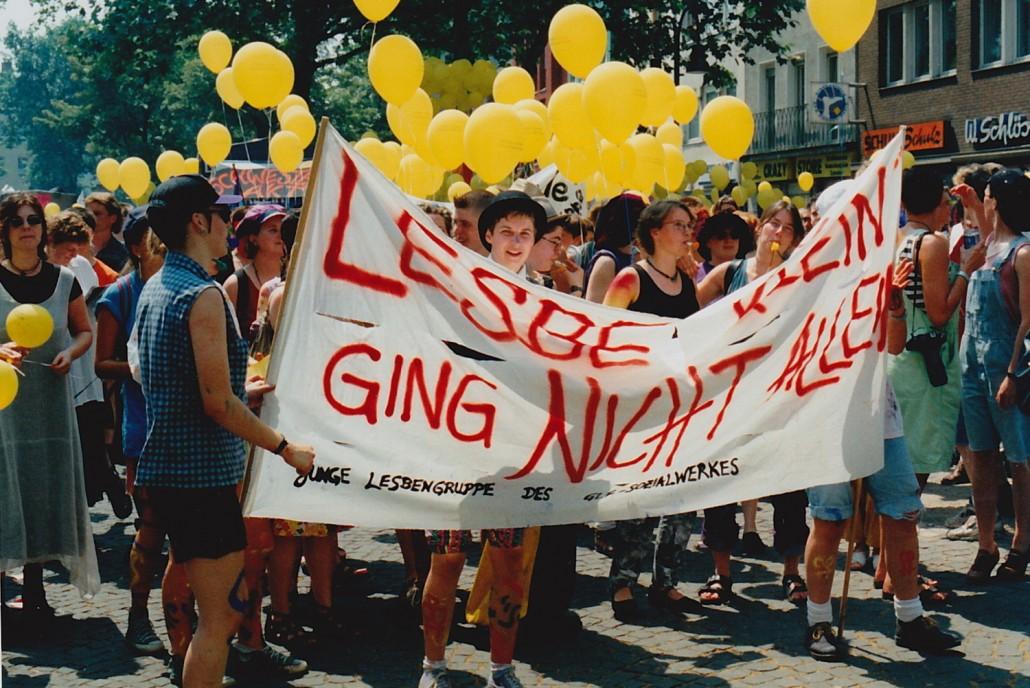 Junglesbengruppe CSD 1995